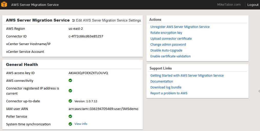 aws server migration service complete