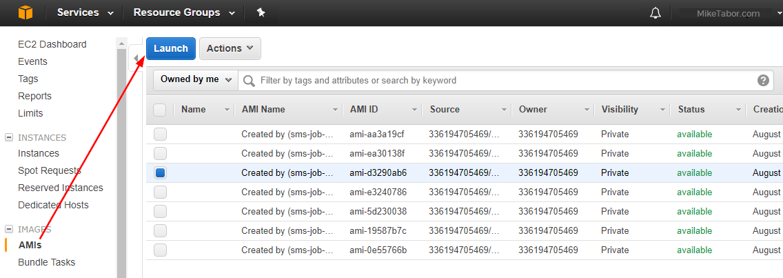 aws server migration service migrate launch ami