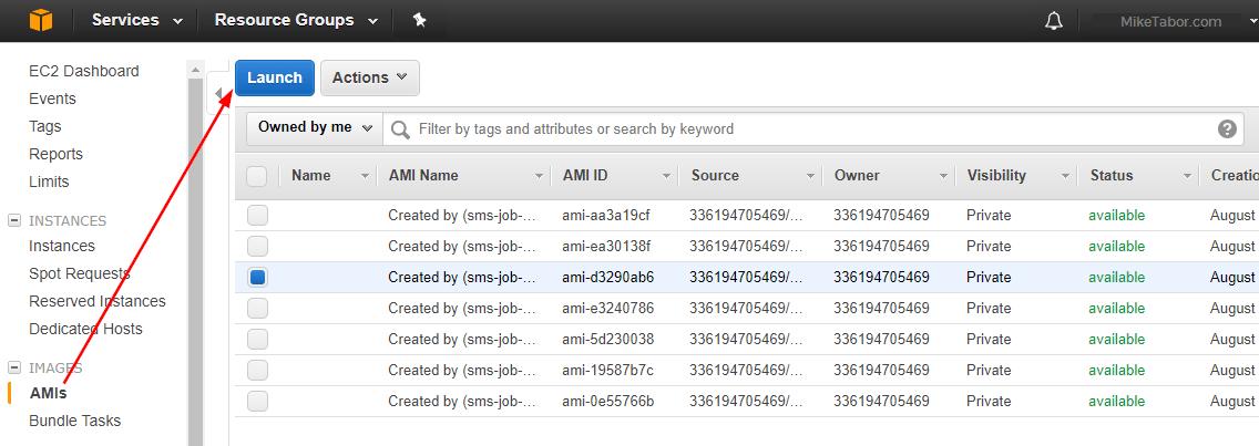 aws server migration service migrate launch ami