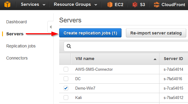 aws sms servers create replication jobs
