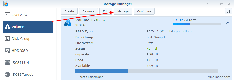 synology defrag storage manager