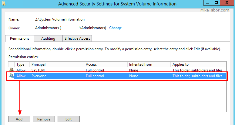 advanced security settings