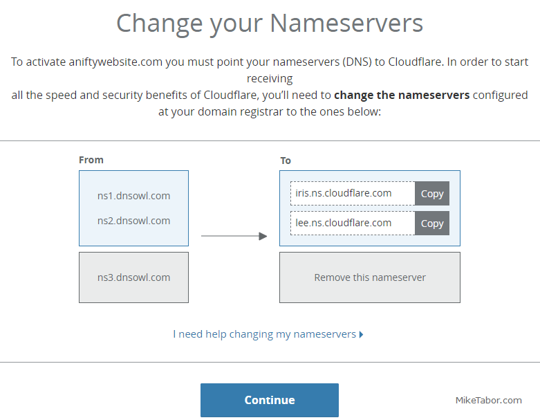 cloudflare name servers