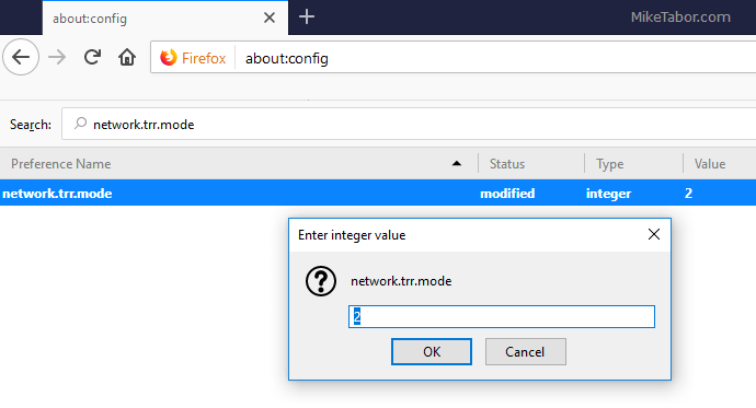firefox network.trr.mode