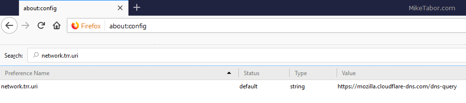 Firefox - network.trr.uri