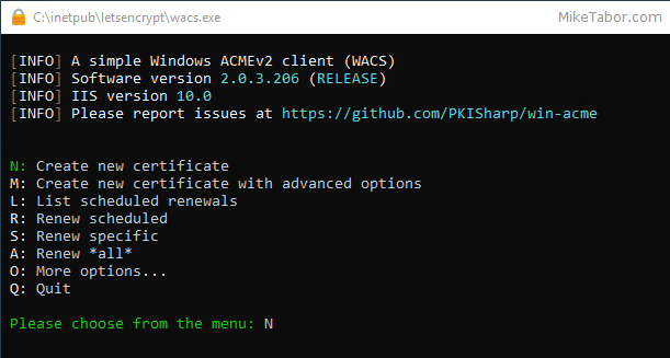 How to install a Let's Encrypt SSL cert on Microsoft IIS - Mike Tabor