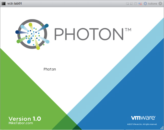 Photon splash screen